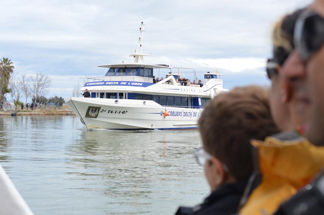 Barco por el Delta del Ebro
