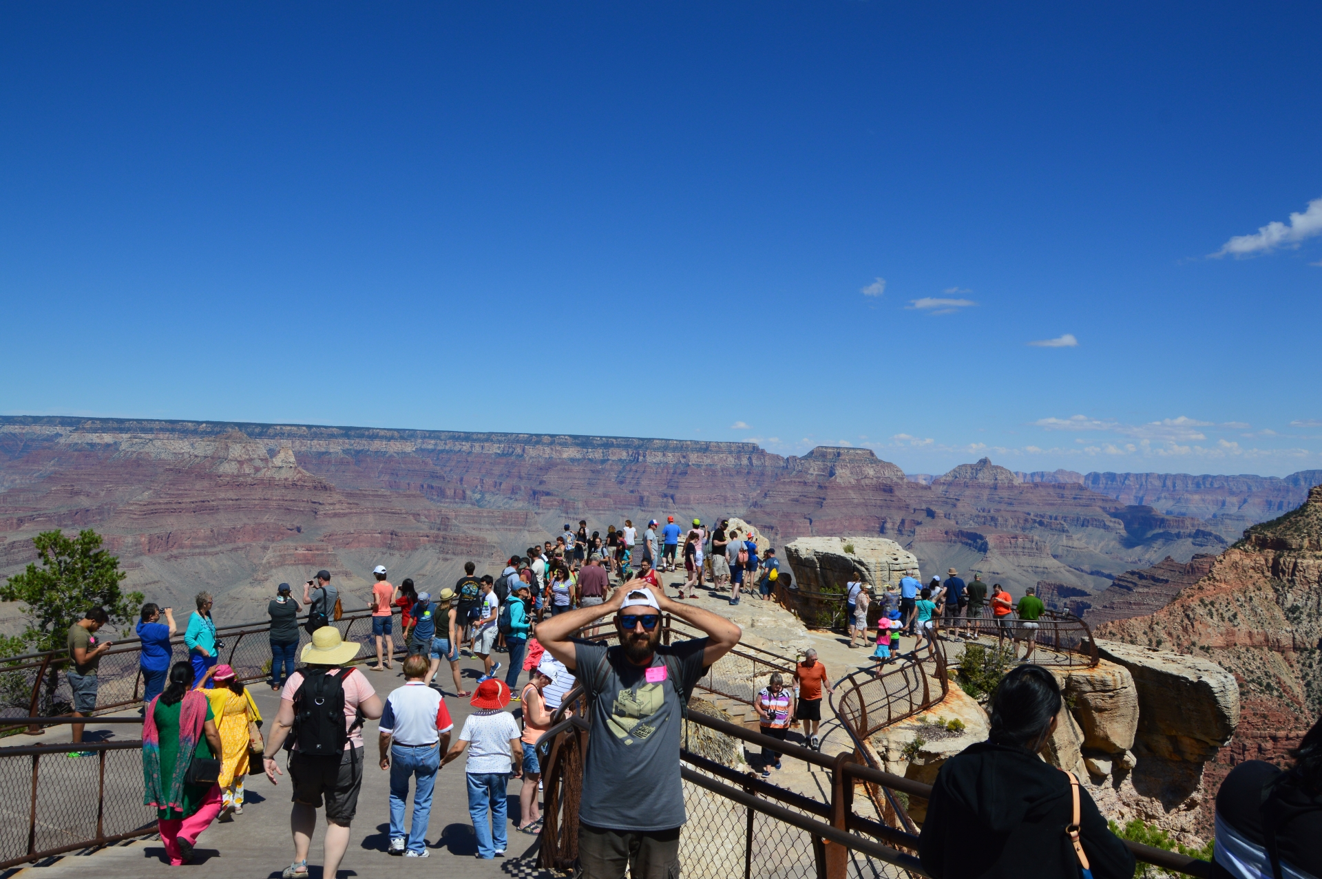 Mather Point, el sitio turístico del South Rim