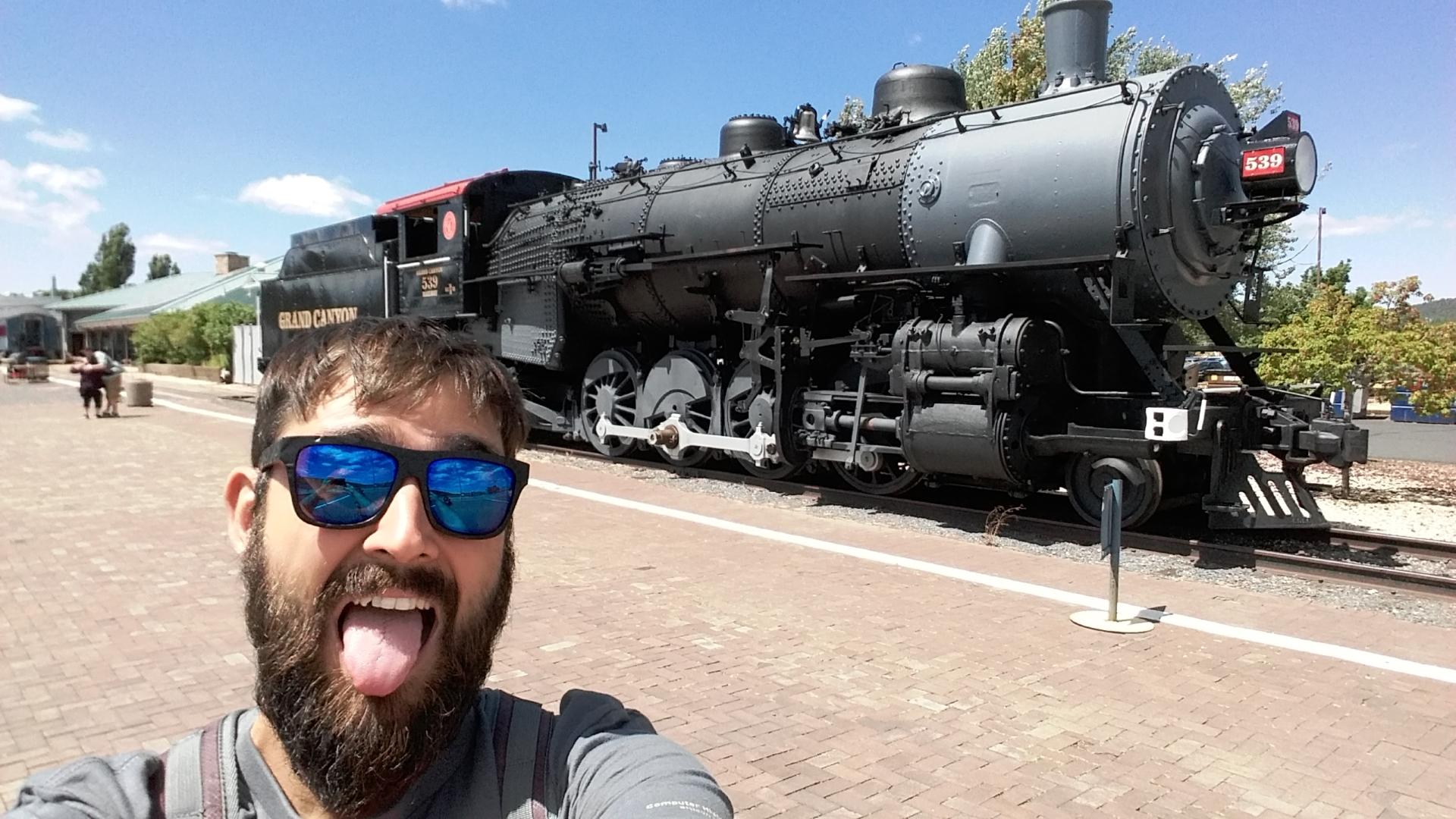 Williams, Arizona, viendo las locomotoras