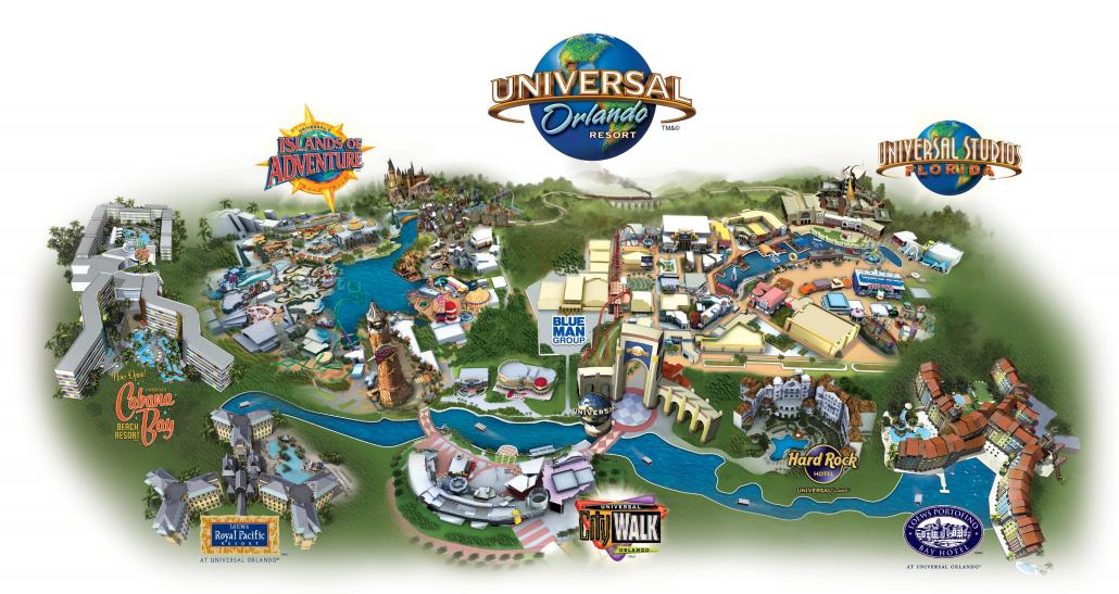 universal orlando mapa