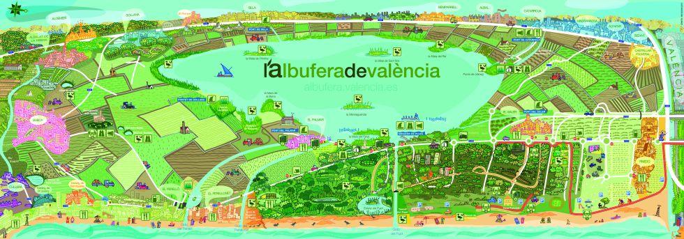 mapa albufera de valencia