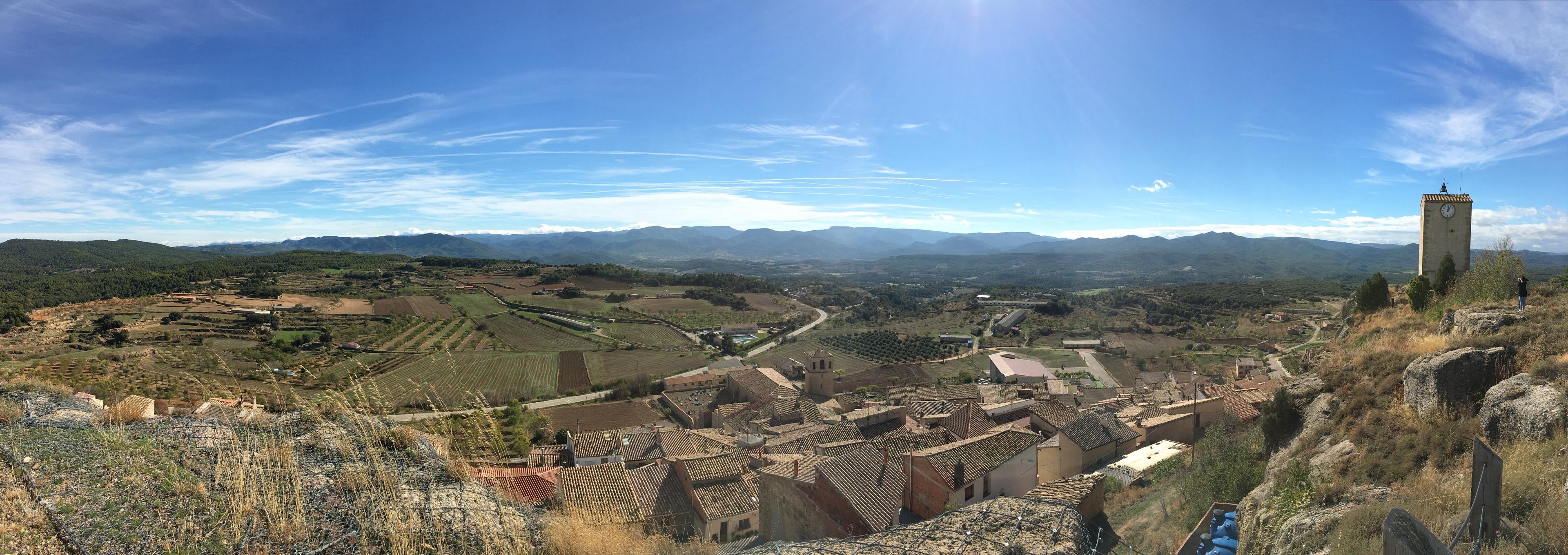 panoramica desde la Muela de Monroyo