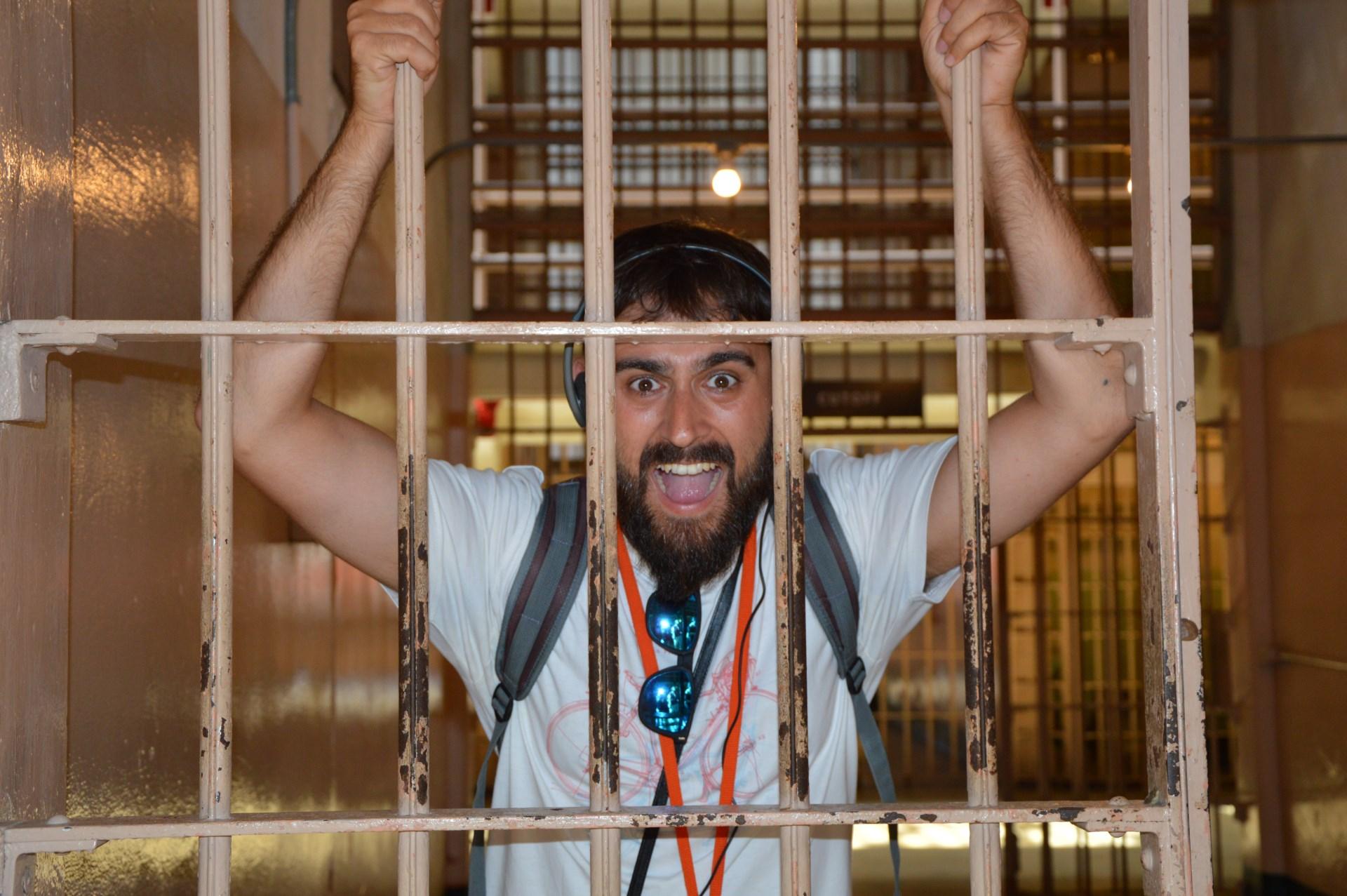 carballo en una celda de Alcatraz