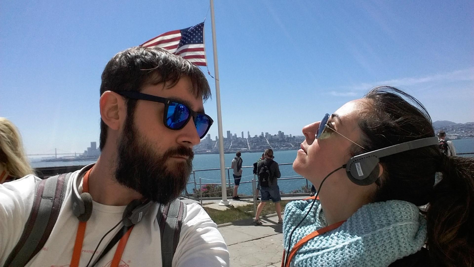 patio de la bandera de Alcatraz
