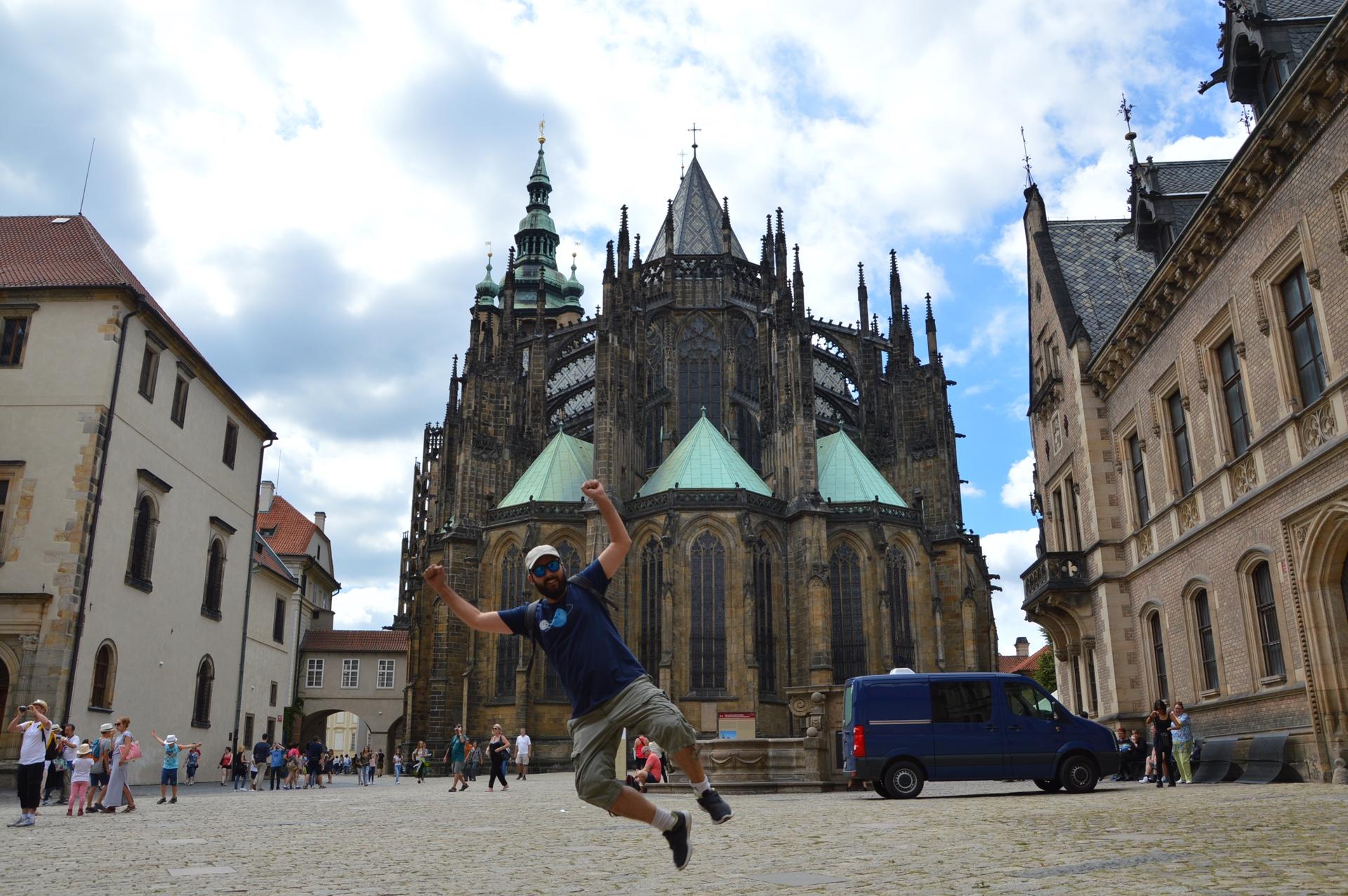 Vista de la Catedral de Praga