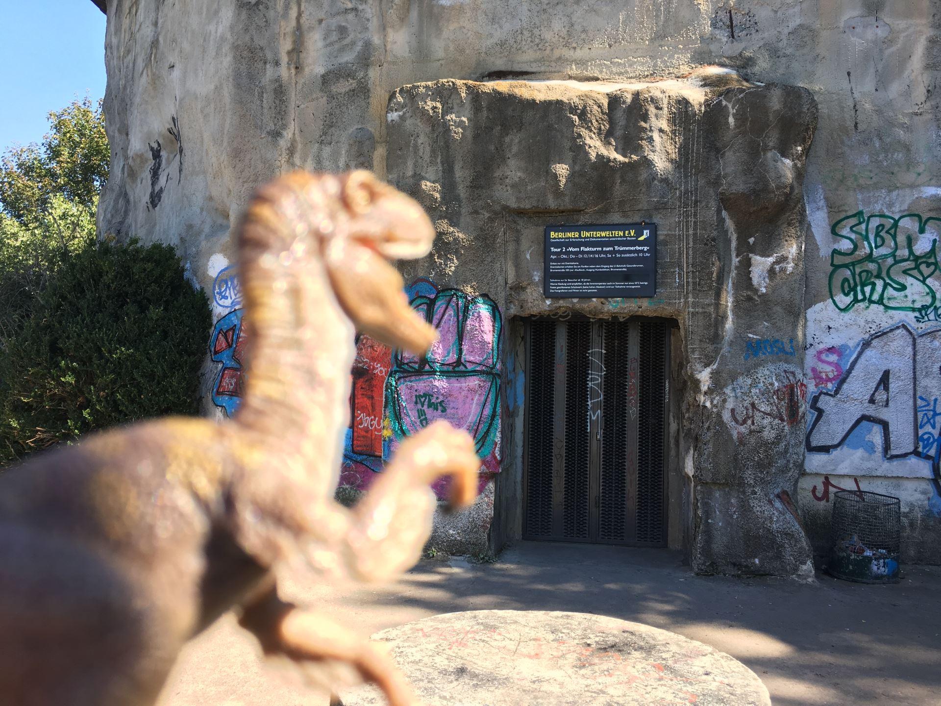 entrada al bunker de Berlin