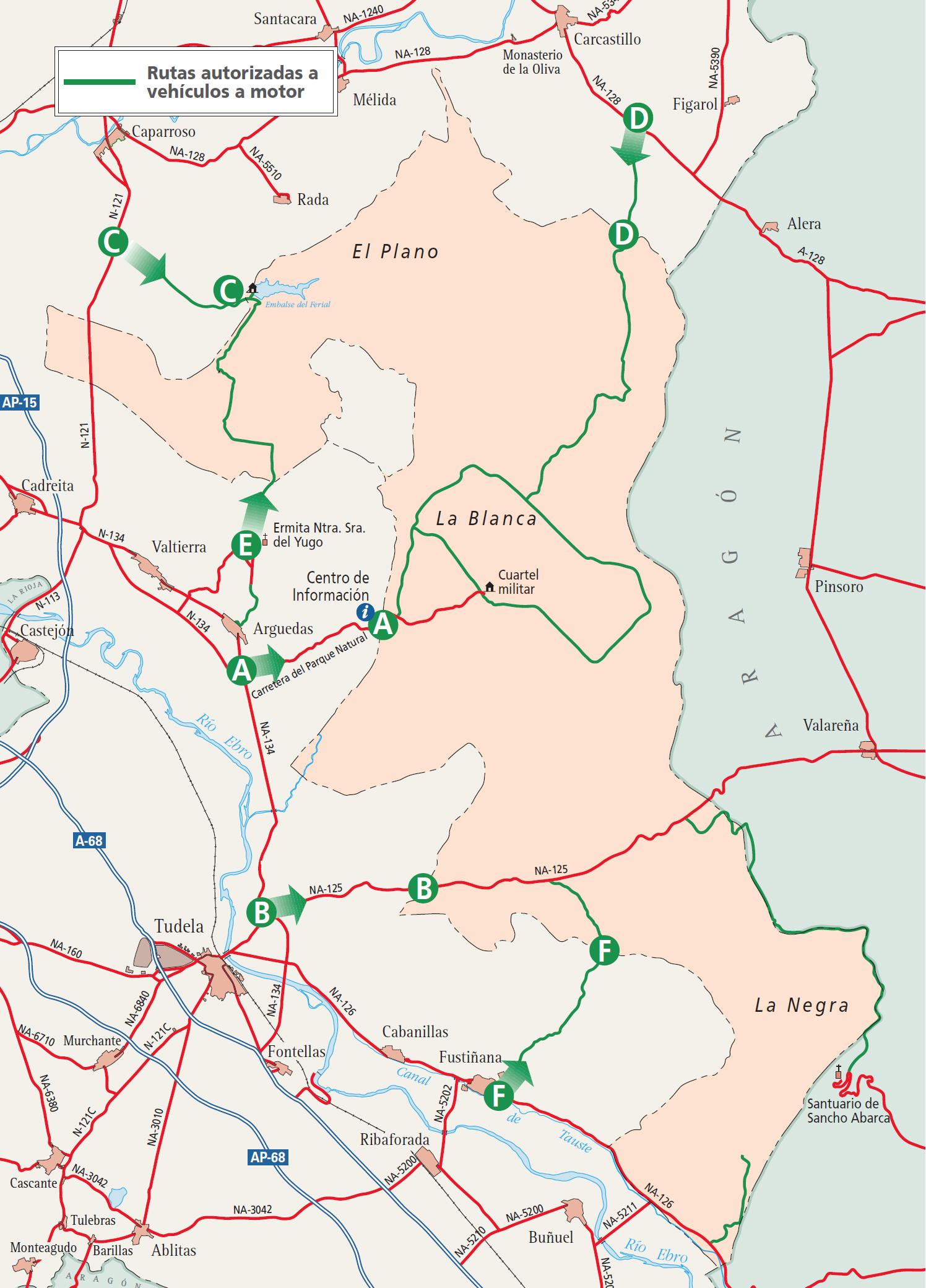 Mapa Bardenas Reales Navarra