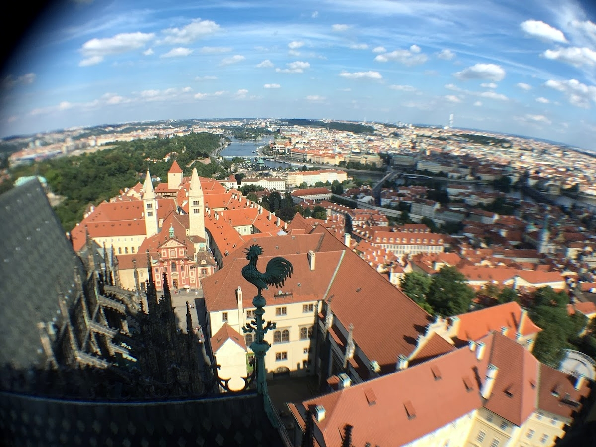 Vistas desde la Catedral de San Vito en Praga