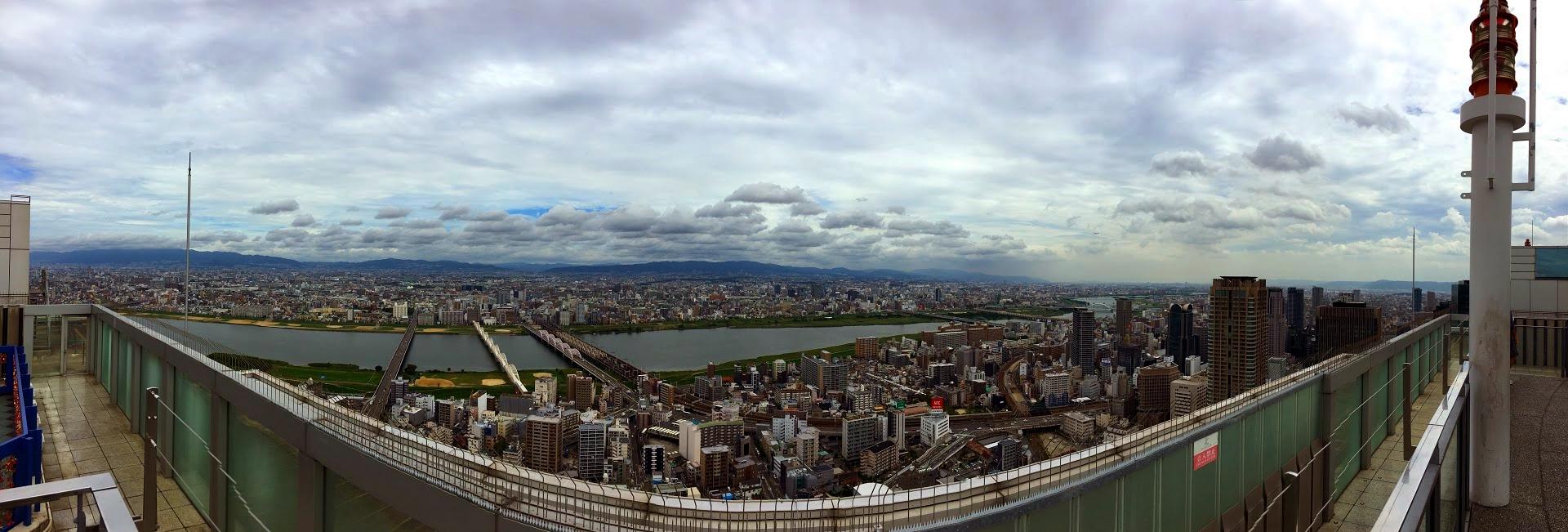 Vistas desde el Umeda Sky en Osaka