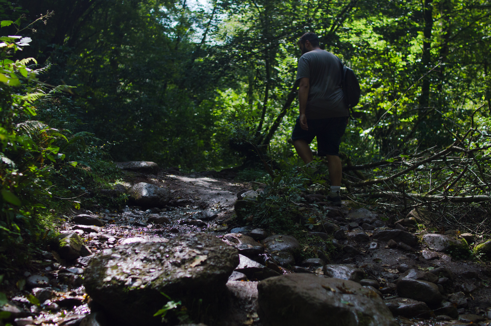 Andando hacia Cascada Xorroxin